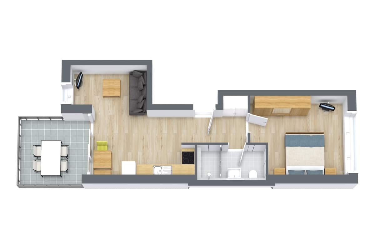 Apartment 67101 Floor Plan