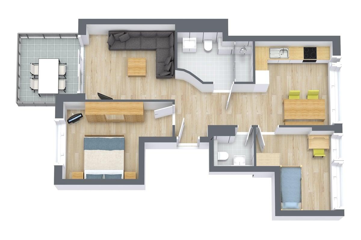 Apartment 67102 Floor Plan
