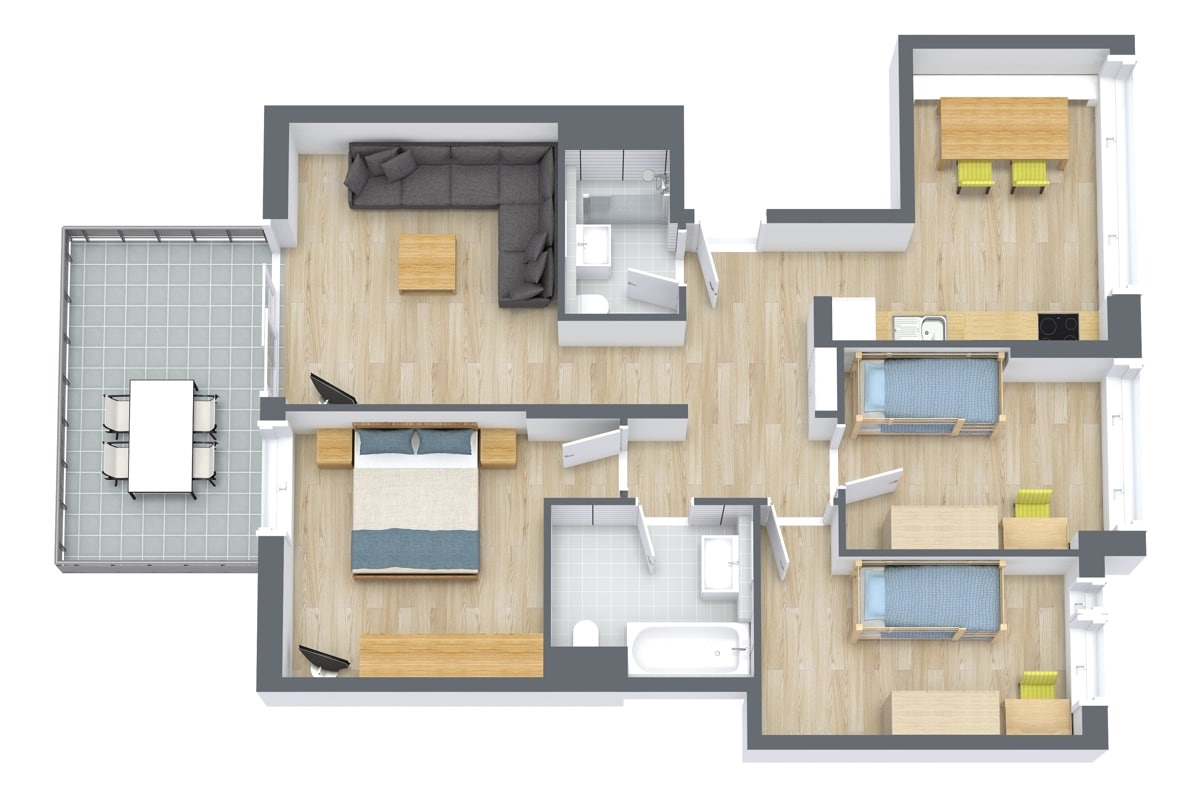 Apartment 69103 Floor Plan